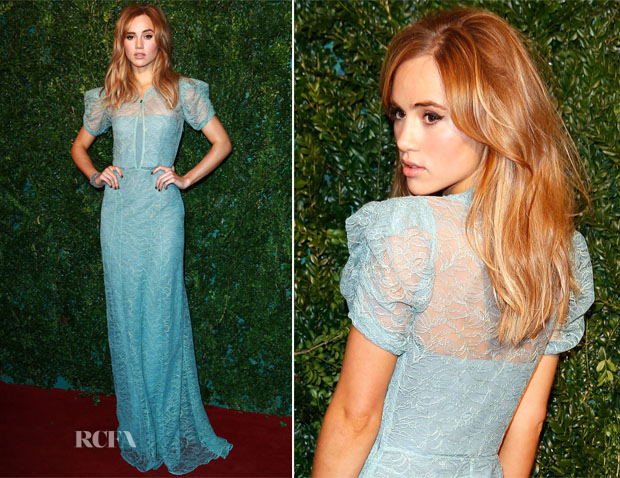 Suki Waterhouse In Burberry - 2014 London Evening Standard Theatre Awards