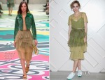 Suki Waterhouse In Burberry Prorsum - The Burberry Beauty Box Event