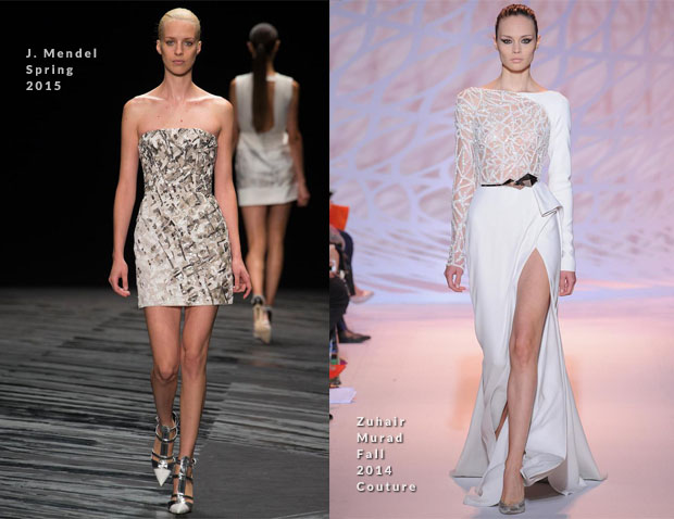 Taylor Swift In J Mendel & Zuhair Murad Couture  Victoria's Secret Fashion Show