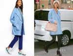 Taylor Swift's ASOS Blue Boyfriend Coat