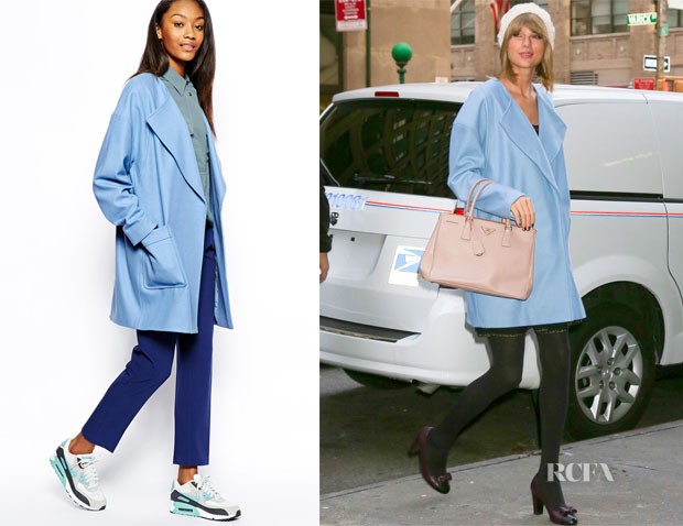 Taylor Swift's ASOS Boyfriend Blue Coat