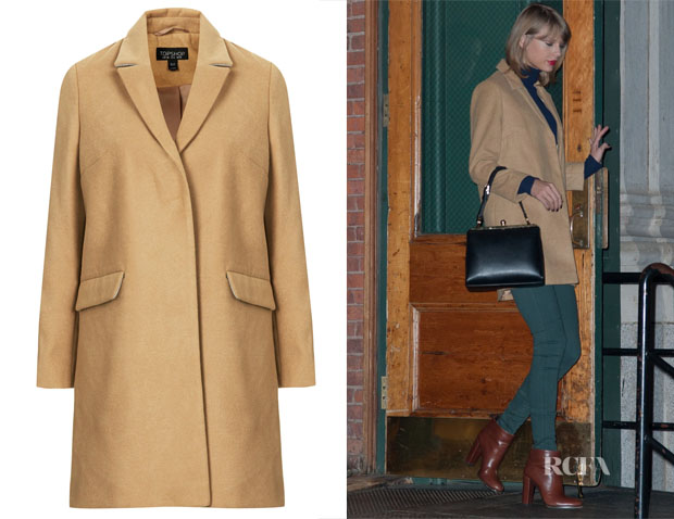 Taylor Swift's Topshop Slim Pocket Detail Coat