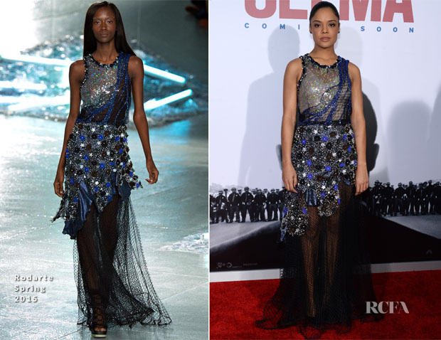 Tessa Thompson In Rodarte - 'Selma' New York Premiere
