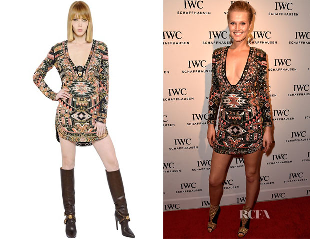 Toni Garrn's Emilio Pucci Embellished Beaded Mini Dress