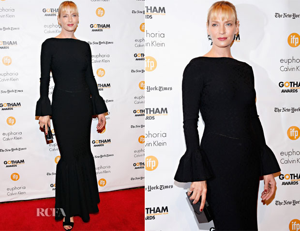 Uma Thurman In Alaia - 2014 Gotham Independent Film Awards