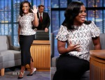 Uzo Aduba In Thomas Wylde & Oscar de la Renta - Late Night with Seth Meyers