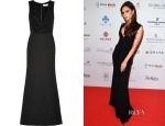 Victoria Beckham's Victoria Beckham Ruffled silk and wool-blend gown