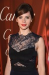 Felicity Jones in Monique Lhuillier