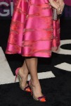 Sophia Bush in Lela Rose with Christian Louboutin Bille Et Boule studded PVC and suede pumps