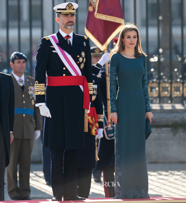 Queen Letizia of Spain In Felipe Varela