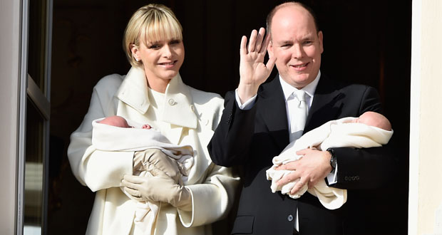 Official Presentation Of The Monaco Twins : Princess Gabriella of Monaco  And Prince Jacques of Monaco At The Palace Balcony