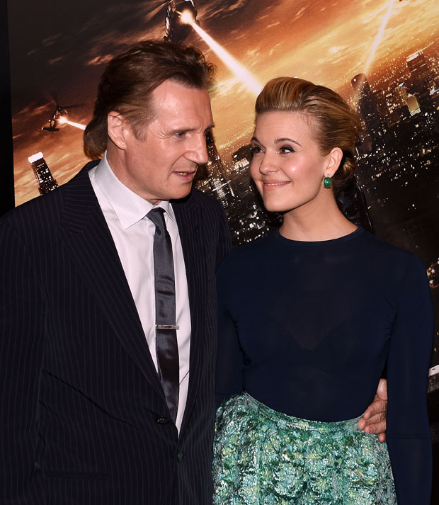 Maggie Grace on liam neeson