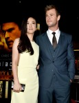 Tang Wei in Vionnet and Chris Hemsworth