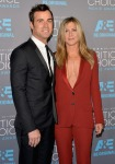 Justin Theroux in Dior Homme and Jennifer Aniston in Gucci