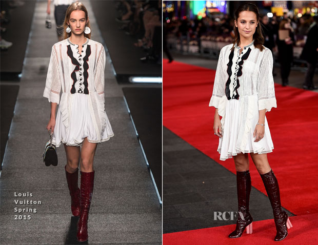 Alicia Vikander In Louis Vuitton - 'Testament Of Youth' London Premiere