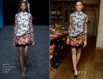 Allison Williams In Mary Katrantzou -  Glamour Cover Star Dinner Party
