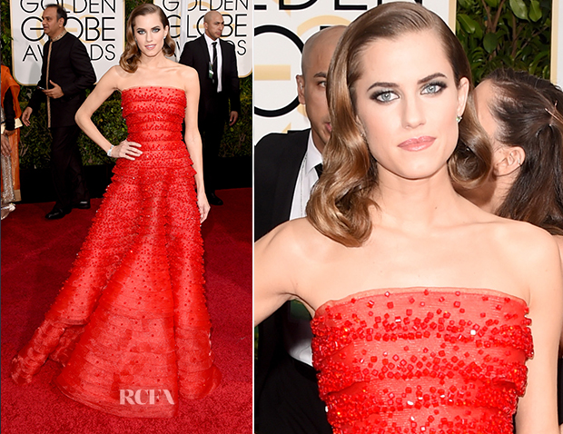 Allison Williams In Armani Privè - 2015 Golden Globe Awards