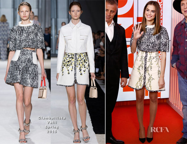 Allison Williams In Giambattista Valli - The Today Show
