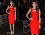 Allison Williams In Ralph Lauren Black Label - Late Show with David Letterman