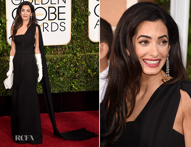 Amal Clooney In Christian Dior Couture - 2015 Golden Globe Awards