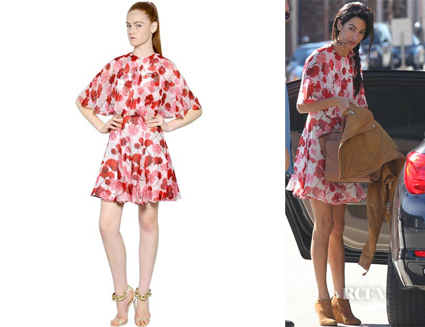 Amal Clooney's Giambattista Valli Printed Silk Georgette Dress