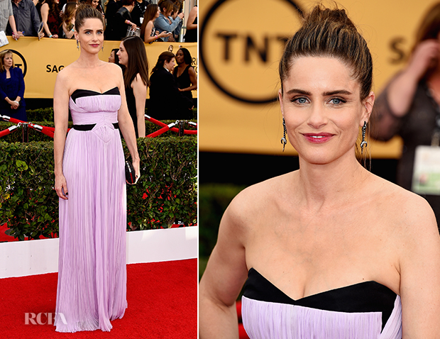 Amanda Peet In J. Mendel - 2015 SAG Awards