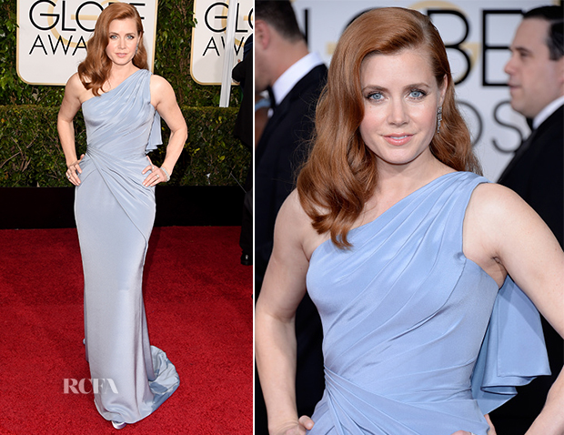 Amy Adams In Versace - 2015 Golden Globe Awards