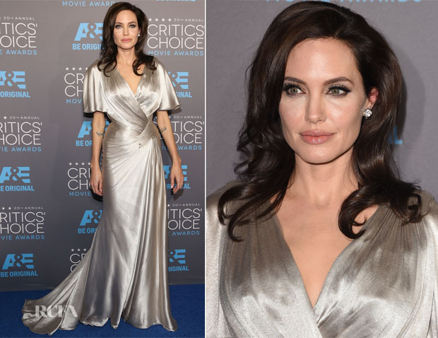 Angelina Jolie In Atelier Versace - 2015 Critics' Choice Movie Awards