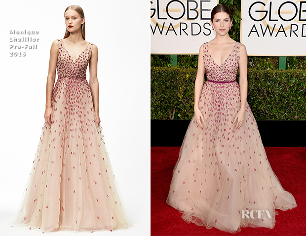 Anna Kendrick In Monique Lhuillier - 2015 Golden Globe Awards