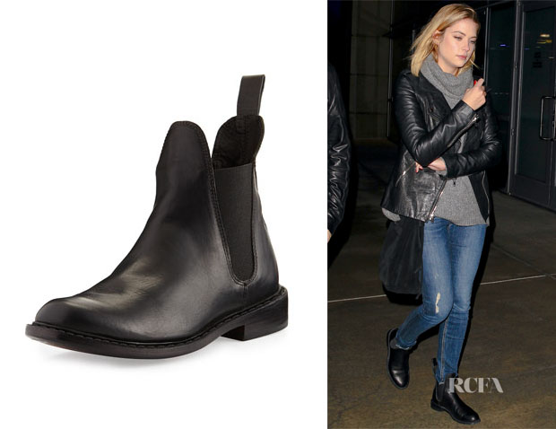 Ashley Benson's Rag & Bone Dartford Leather Chelsea Boots