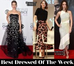 Best Dressed Of The Week - Stana Katic in Carolina Herrera, Emma Stone In Lanvin and Emily Blunt In David Koma