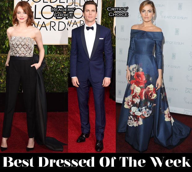 Best Dressed Of The Week - Emma Stone In Lanvin, Camilla Belle In Carolina Herrera & Matt Bomer In Ralph Lauren