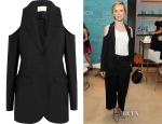 Brit Marling's Christopher Kane Cutout Wool-Crepe Blazer
