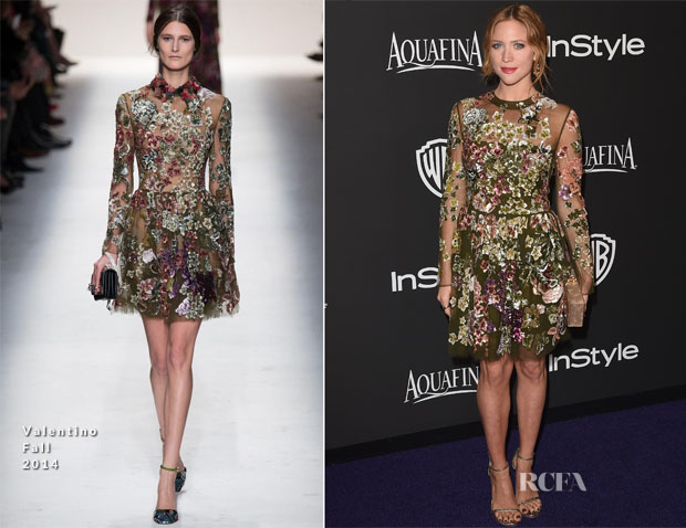 Brittany Snow In Valentino - 2015 InStyle and Warner Bros