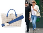 Cameron Diaz'  Chloé Baylee Perforated Leather Tote