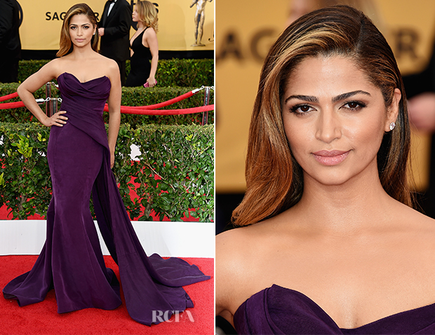 Camila Alves In Donna Karan Atelier - 2015 SAG Awards