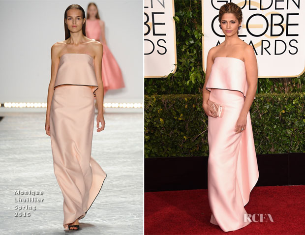Camila Alves In Monique Lhuillier - 2015 Golden Globe Awards