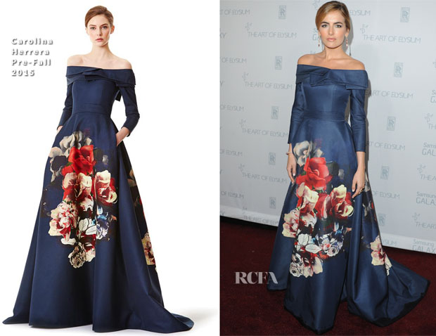 Camilla Belle In Carolina Herrera - 2015 Art Of Elysium HEAVEN Gala