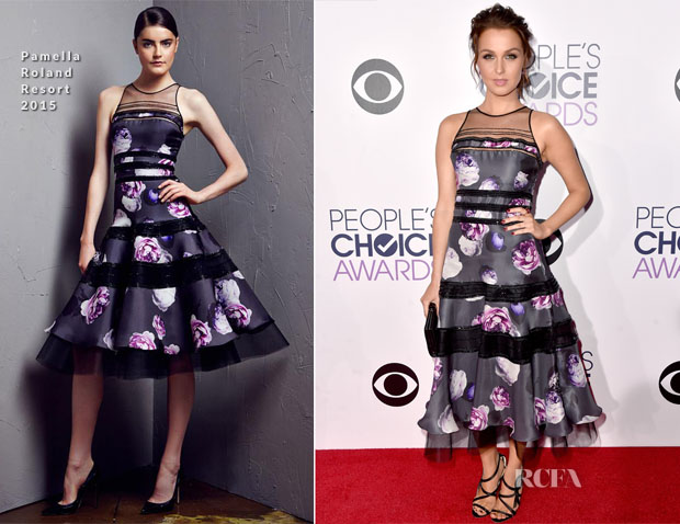Camilla Luddington In Pamella Roland - 2014 People's Choice Awards