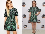 Camilla Luddington's ASOS Premium Embroidered Shift Dress