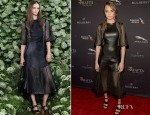 Cara Delevingne In Mulberry - 2015 BAFTA LA Tea Party