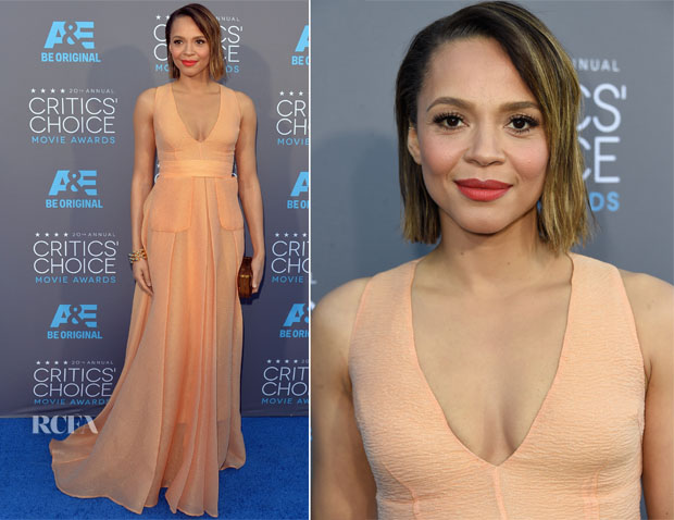 Carmen Ejogo In Emilia Wickstead - 2015 Critics' Choice Movie Awards