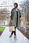 Antonio Berardi Pleated Coat H&M Vest J Brand Photo Ready Photo Ready Maria High-Rise Skinny Jeans Vintage Necklace Celine Bag Nicholas Kirkwood Shoes