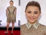 Chloe Grace Moretz In Valentino - Museum Of The Moving Image Gala Salute