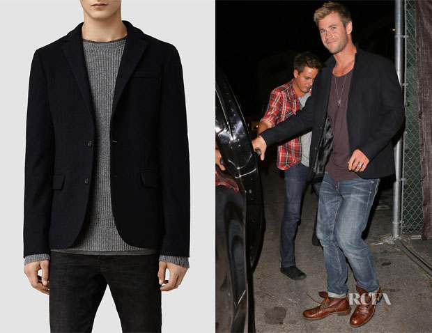 Chris Hemsworth's AllSaints Lens Blazer