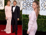 Chrissy Teigen In Zuhair Murad - 2015 Golden Globe Awards