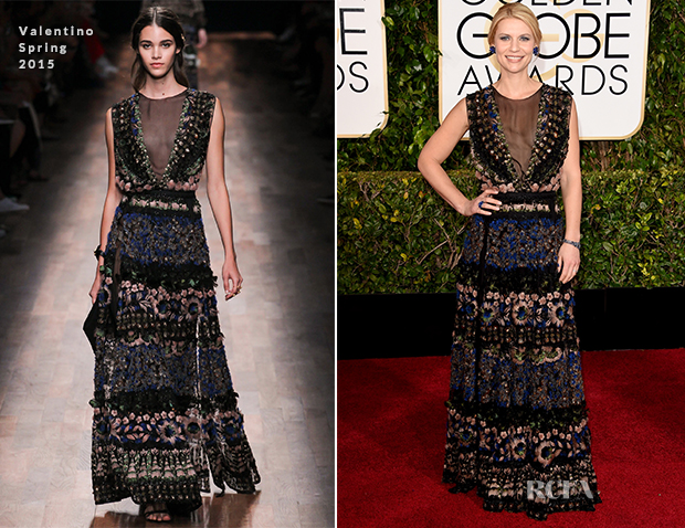 Claire Danes In Valentino - 2015 Golden Globe Awards