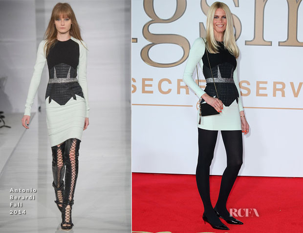 Claudia Schiffer In Antonio Berardi - 'Kingsman The Secret Service' World Premie