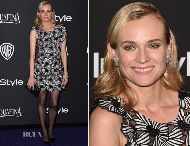 Diane Kruger In Giamba - 2015 InStyle and Warner Bros Golden Globe Awards Post-Party