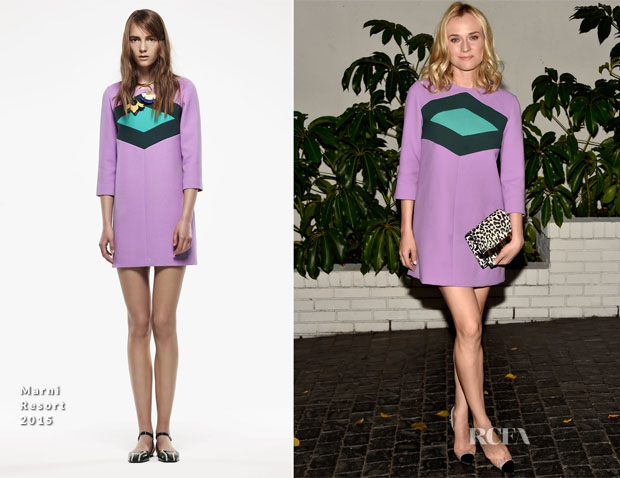 Diane Kruger In Marni - W Magazine's Golden Globes Celebration